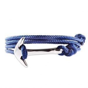 Pulsera Ancla Azul multivueltas