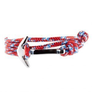 Anchor multi wrap bracelet Red/Blue dots