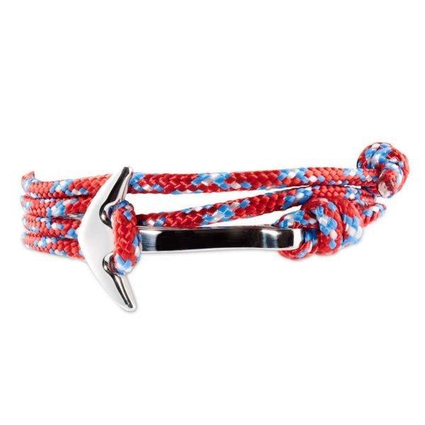 Anchor multi wrap bracelet Red/Blue dots