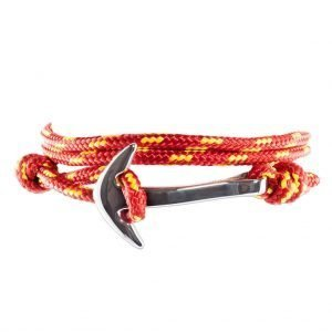 Anchor multi wrap bracelet Red/Yellow dots