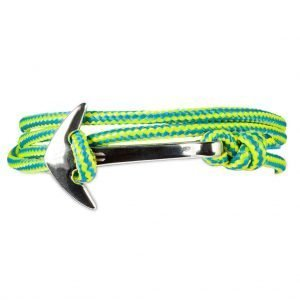 Anchor multi wrap bracelet Turquoise/Yellow