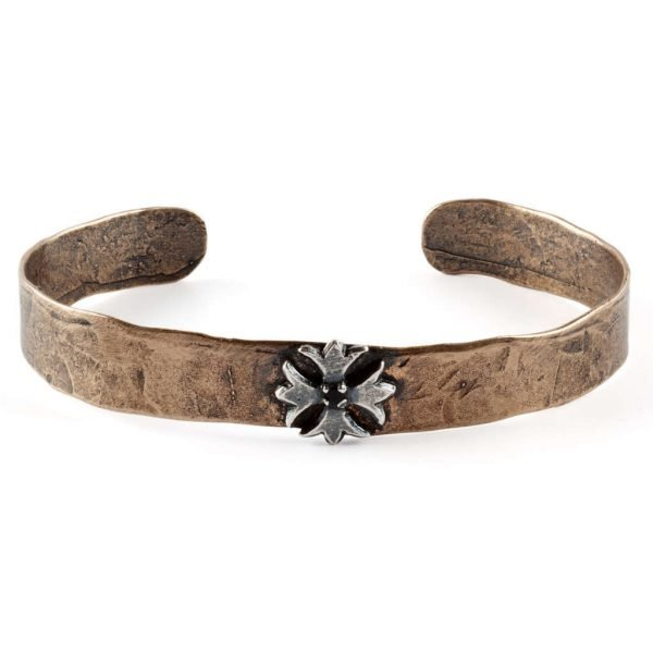 Thin cross bangle