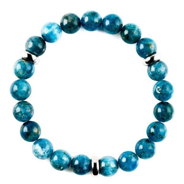 Beads bracelet 10mm Apatite