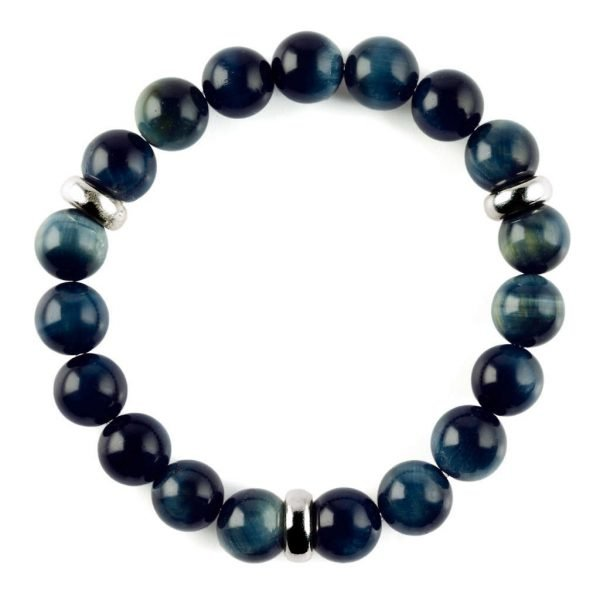Beads bracelet 10mm Blue Tiger eye