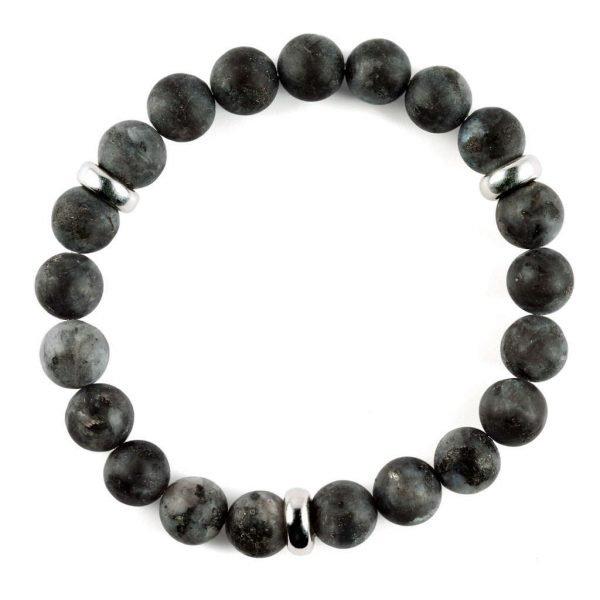 Beads bracelet 10mm Matte Labradorite