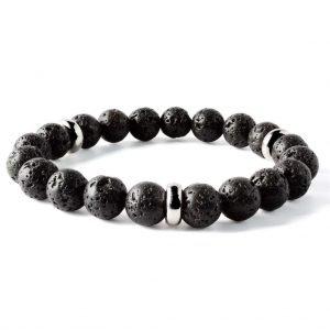 Beads bracelet 10mm Volcanic