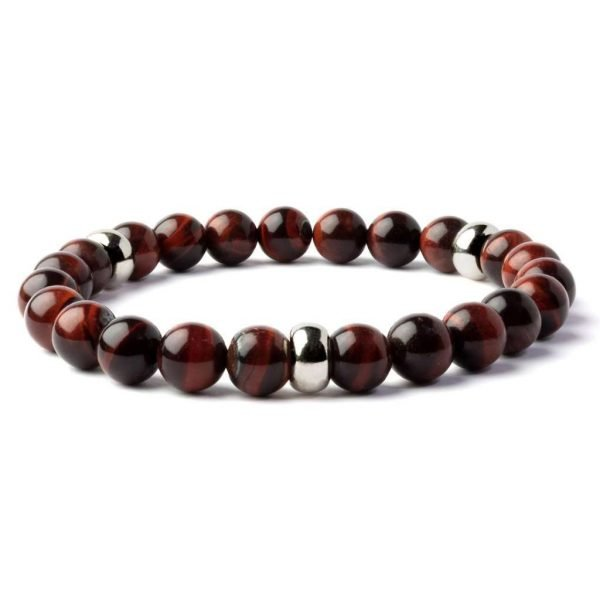 Beads bracelet 8mm Red Tiger eye