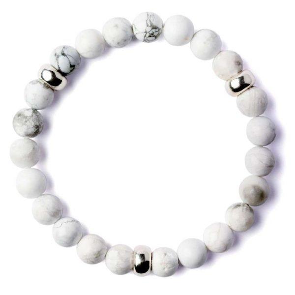 Beads bracelet 8mm Howlite