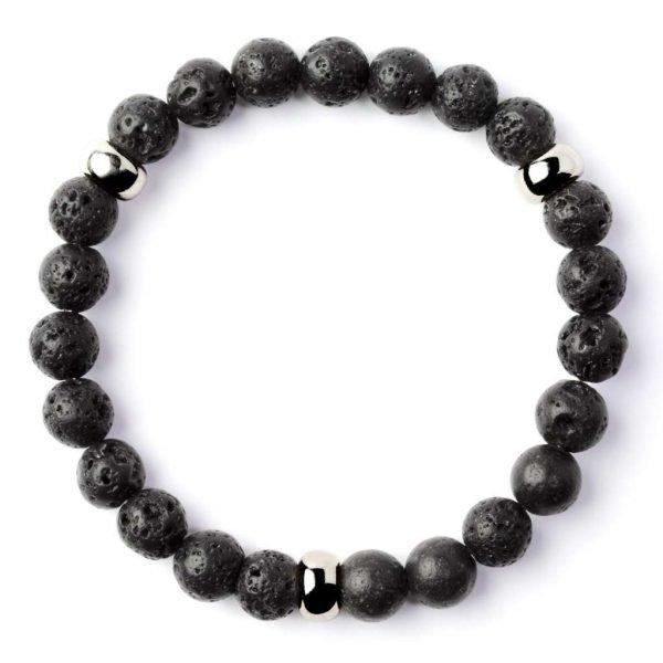 Beads bracelet 8mm Volcanic