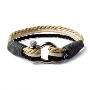 Nautical beige and black bracelet