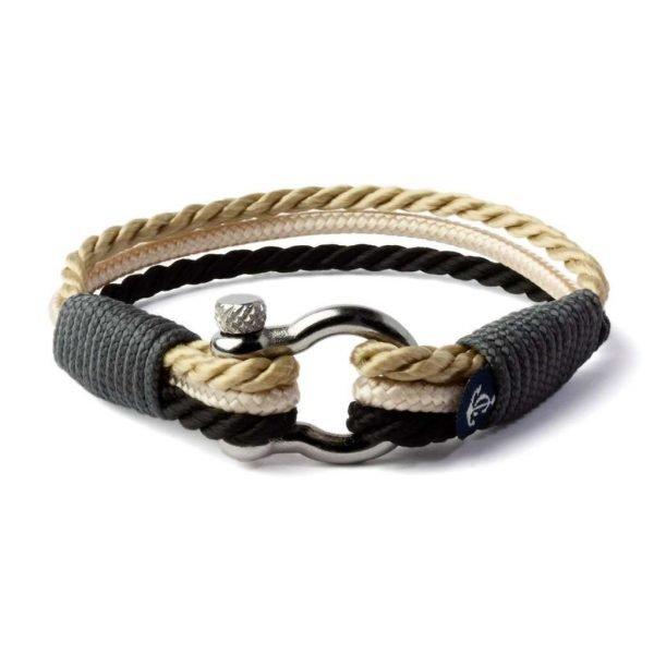Nautical beige and black bracelet