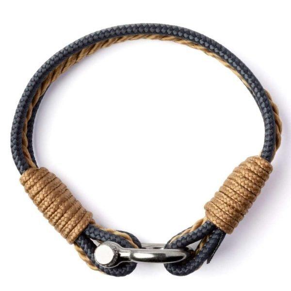 Nautical beige and grey bracelet