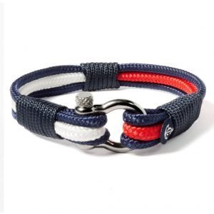 Nautical red and white bracelet