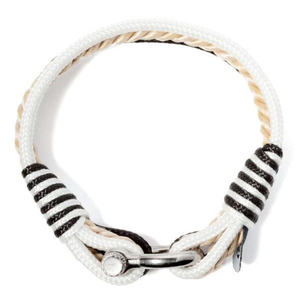 Nautical white and black bracelet