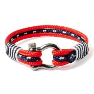 Nautical red and blue bracelet