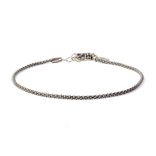 Padova Thin silver chain bracelet