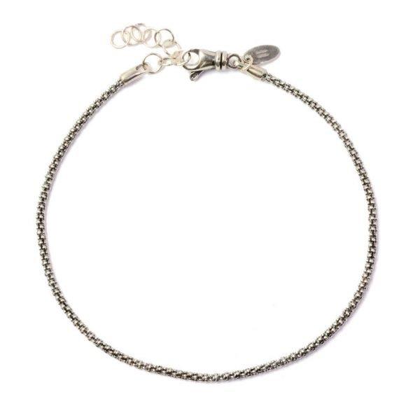 Pulsera de cadenas en plata delgada Padova