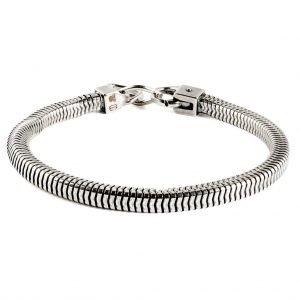 Pulsera de plata cadena de serpiente