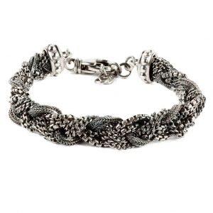 Roma Silver braded chain bracelet