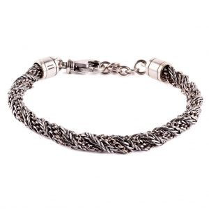 Milano Silver braded chain bracelet