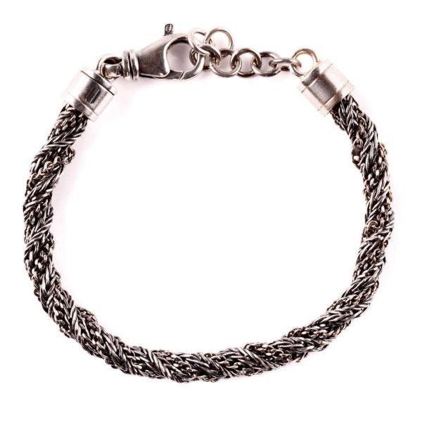 Milano Silver braded chain bracelet