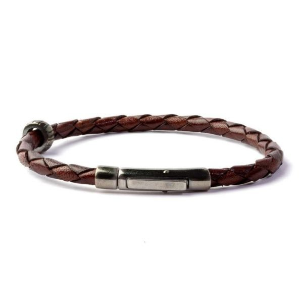 Thin Brown leather bracelet