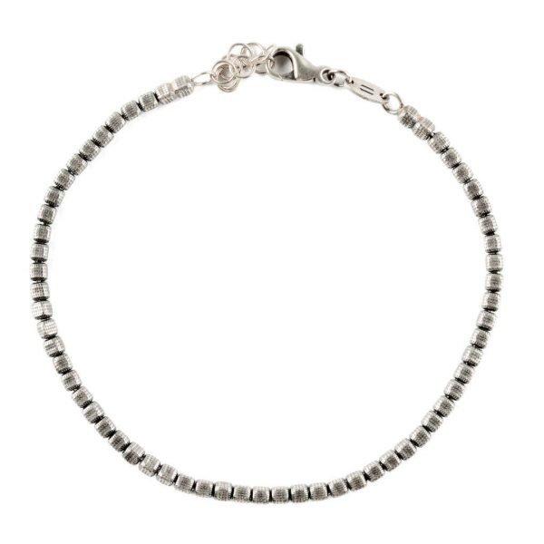 thin silver cubes bracelet