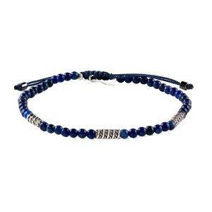 Pulsera ajustable 4mm Lapis Lazuli
