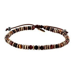 Adjustable 4mm red tiger eye bracelet