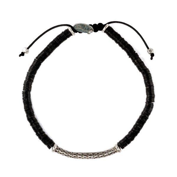 Adjustable 4mm Resin and silver bracelet