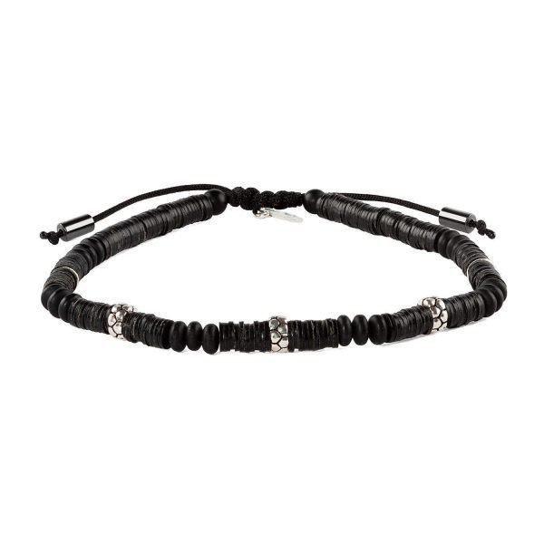 Adjustable 4mm Resin discs bracelet