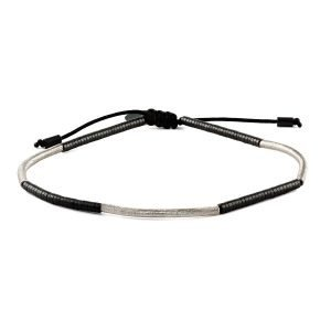 Adjustable 4mm striped bracelet