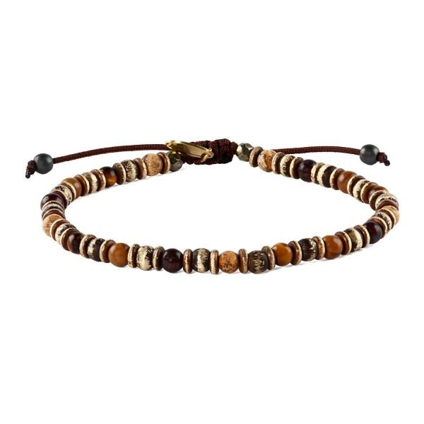 Adjustable 4mm Tiger eye bracelet