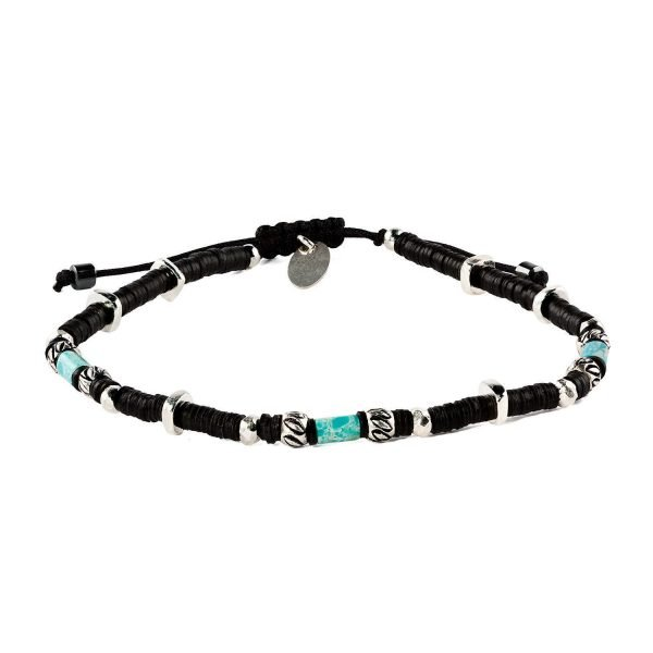 Adjustable 4mm turquoise and Resin bracelet
