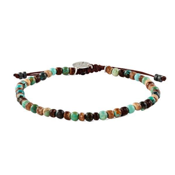 Adjustable 4mm turquoise Opal bracelet