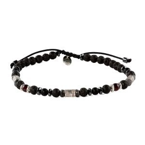 Adjustable 4mm volcanic bracelet