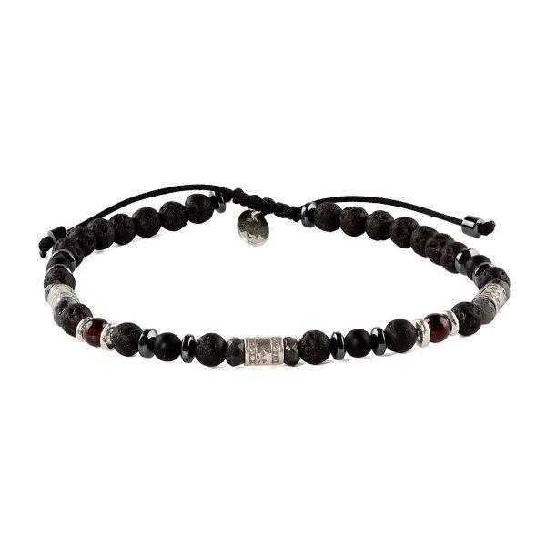 Adjustable 4mm volcanic bracelet