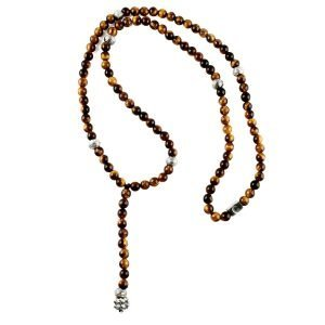 Beads necklace Rosario Tiger Eye