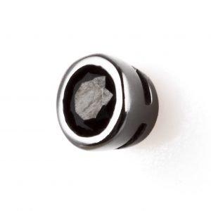 Black stone silver earring (Medium)