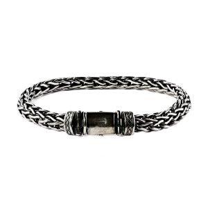 Braded silver bracelet