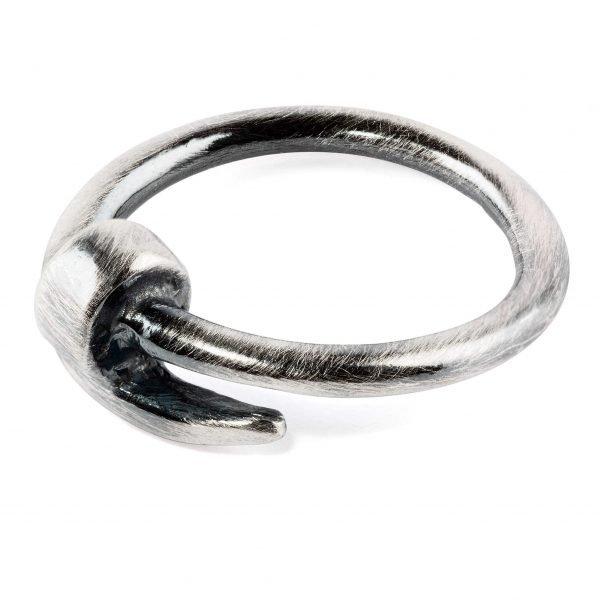 Nail silver ring