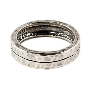 One stripe silver ring