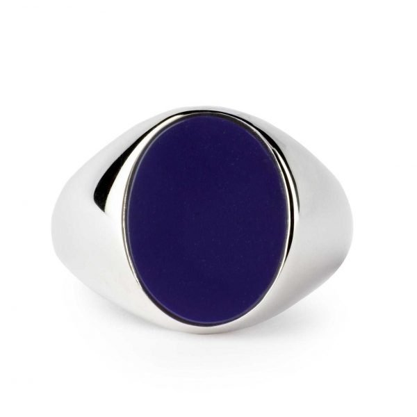 Oval silver ring Lapis Lazuli