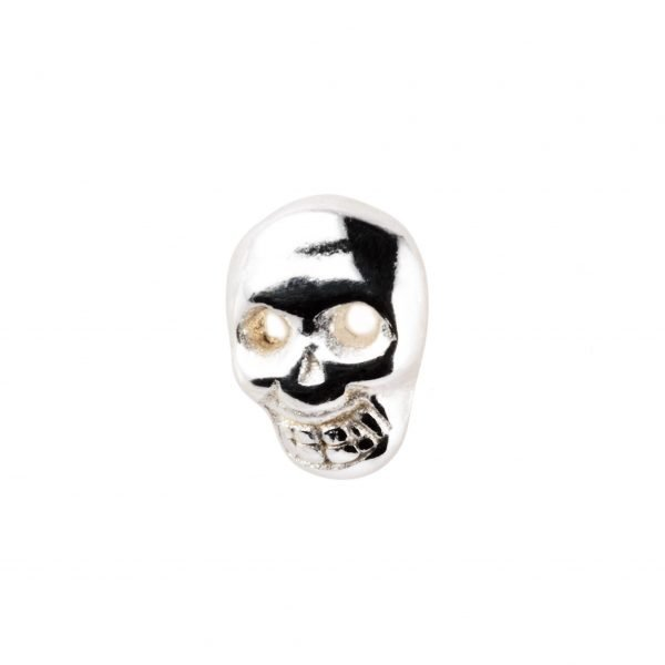 Small skull silver earring