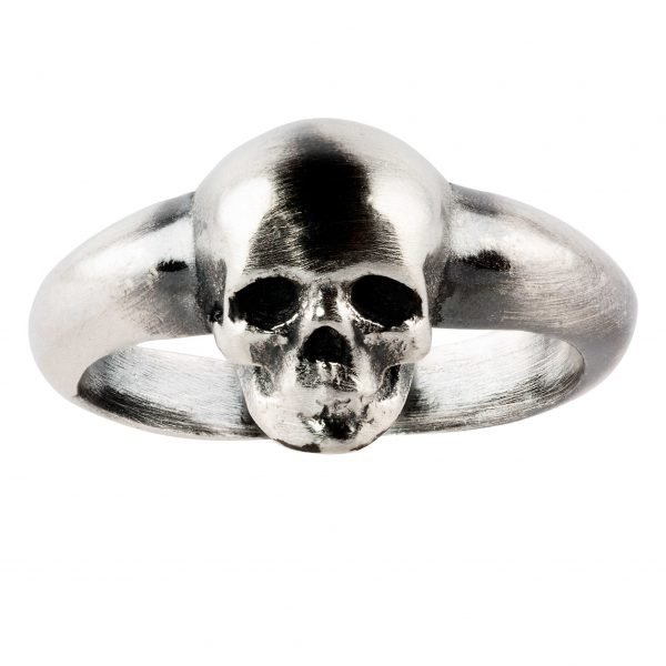 Small skull silver ring