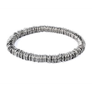 Stainless steel multi ring bracelet