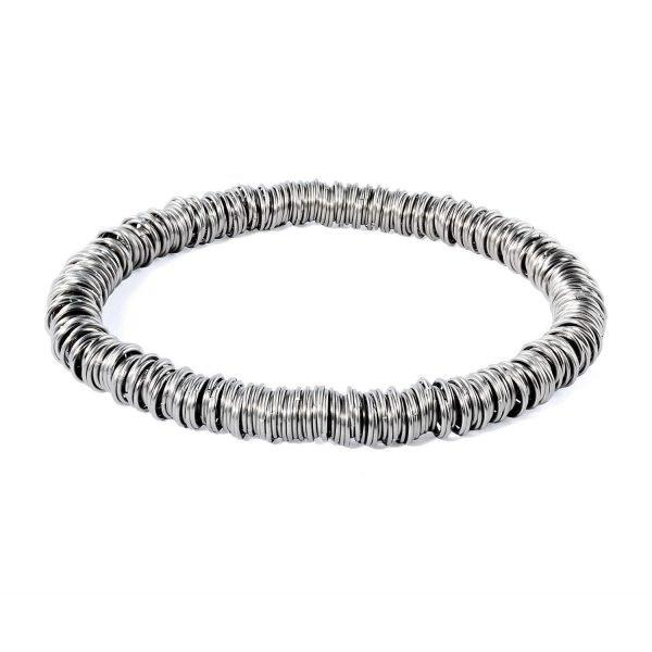 Stainless steel multi ring bracelet