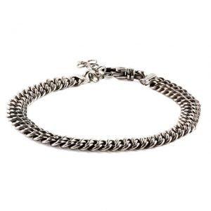 Complex chain silver bracelet