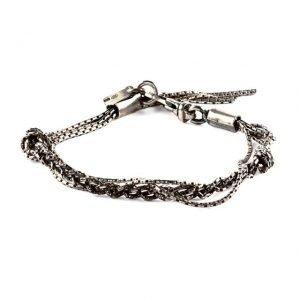 Double Knot silver bracelet