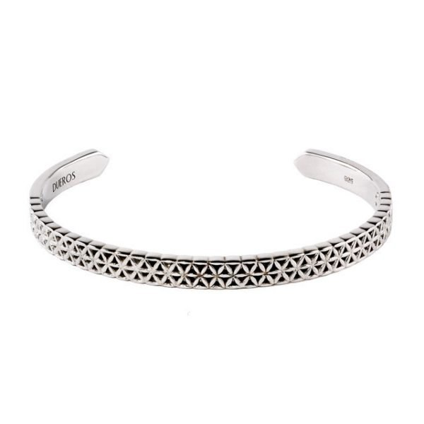Flower of life silver cuff